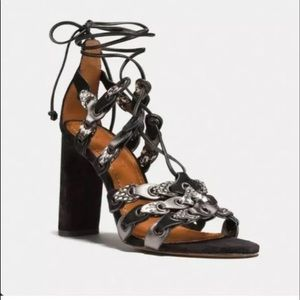 NEW COACH Signature Link Lace-up Sandals Size 5.5